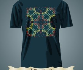 Floral style T-Shirts prints design vector