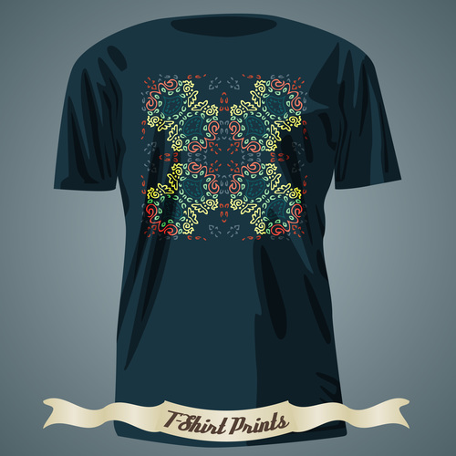 Floral style T Shirts prints design vector