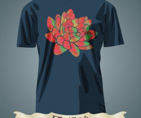 Flower t-shirts prints design vector