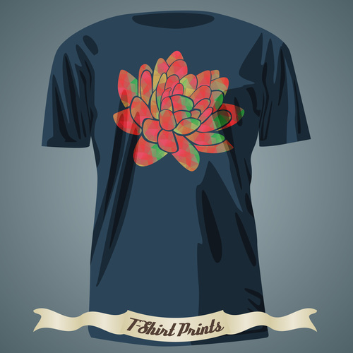 Flower t shirts prints design vector
