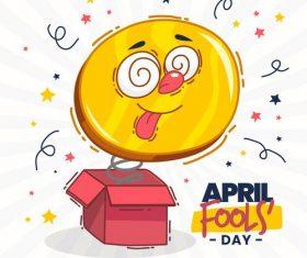 Fools day and April 1 illustration cartoon vector