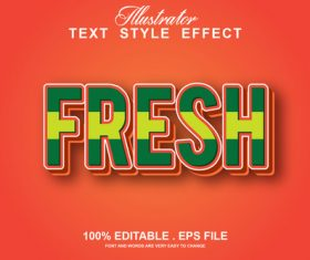 Fresh text style effect vector