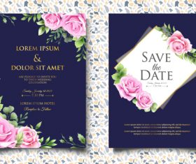 Fresh wedding invitation card vector