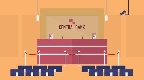 Front office bank illustration background vector