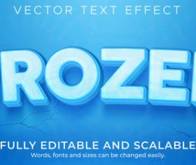 Frozen vector text effect