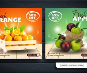 Fruit sale template vector