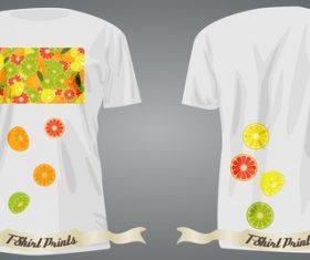 Fruit t-shirts prints design vector