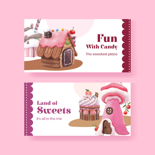 Fun with candy vector