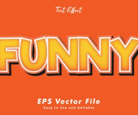 Funny editable text style effect vector