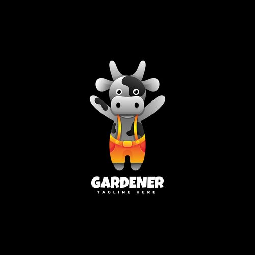 Gardener logos vector