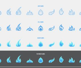Gas icons vector