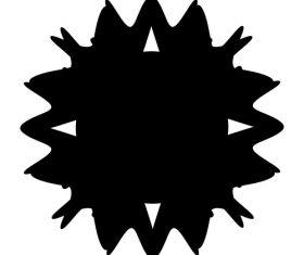 Geometric inkjet pattern vector