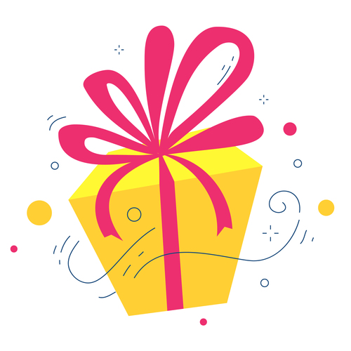 Gift package illustration vector
