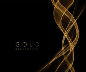 Golden lines abstract background vector