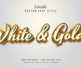Golden stroke art font vector text style