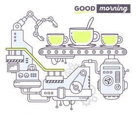 Good morning concept vector