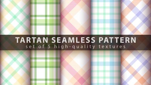 Green and blue tartan seamless pattern vector