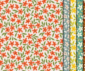 Green leaf red flowers seamless pattern vector