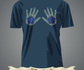 Hand T-Shirts prints design vector