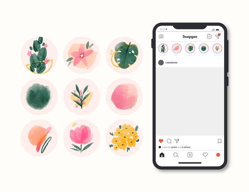 Hand drawn application design icon vector