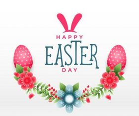 Hand drawn easter background illustration vector