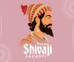 Happy Shivaji Jayanti illustration vector