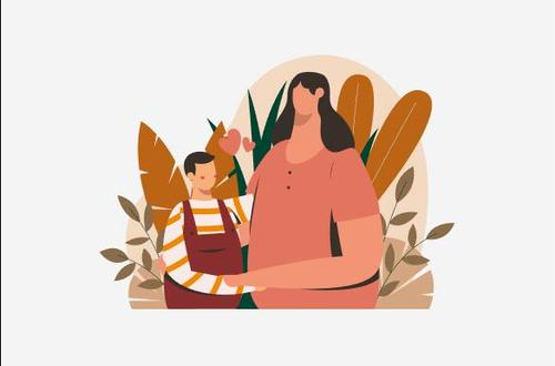 Happy mothers day illustration vector