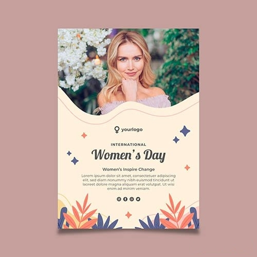 Happy womans day poster vector