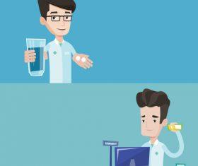 Health cartoon illustration vector