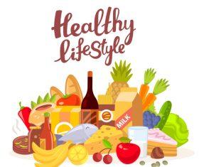 Healthy life vector