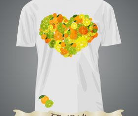 Heart pattern t-shirts prints design vector