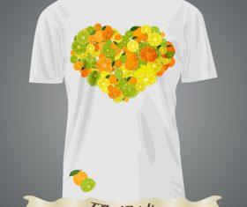 Heart pattern t-shirts prints design vector