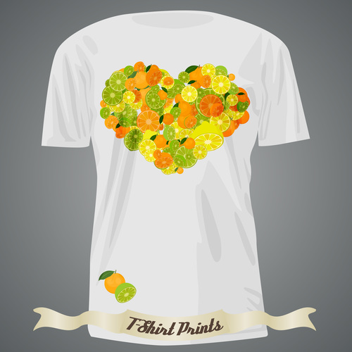 Heart pattern t shirts prints design vector