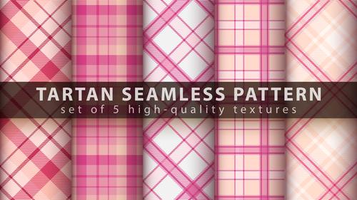 High quality textures tartan seamless pattern vector