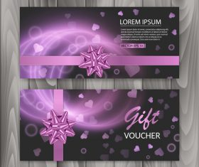 Holiday gift voucher vector