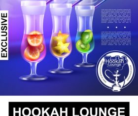 Hookah realistic 3d illustration vector