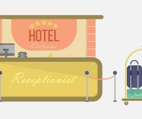 Hotel illustration background vector