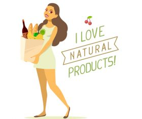 I love natural products vector