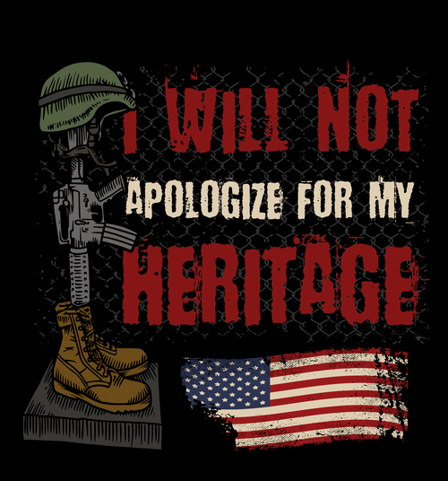 I will not apologize for my heritage vector