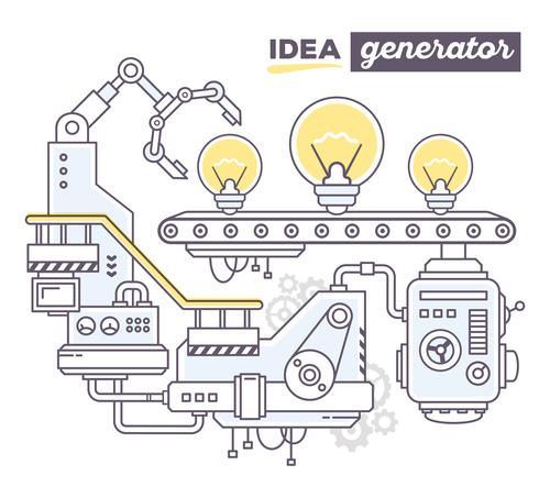Idea generation business concept vector