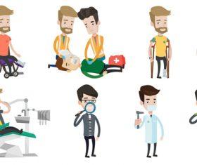 Illness cartoon illustration vector
