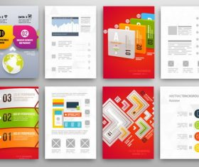 Infographics double-sided template design vector