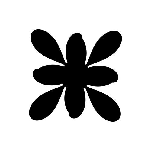 Ink flower vector