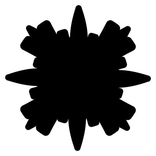 Ink splash geometric pattern vector