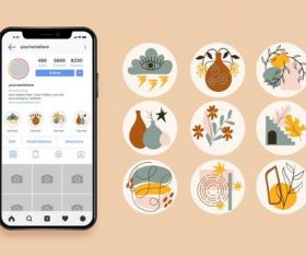 Instagram icons vector