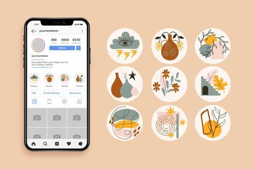Instagram icons vector