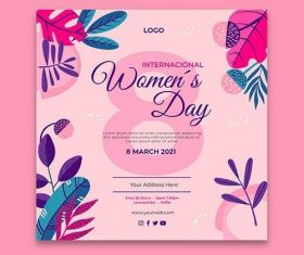 International women day flyer vector