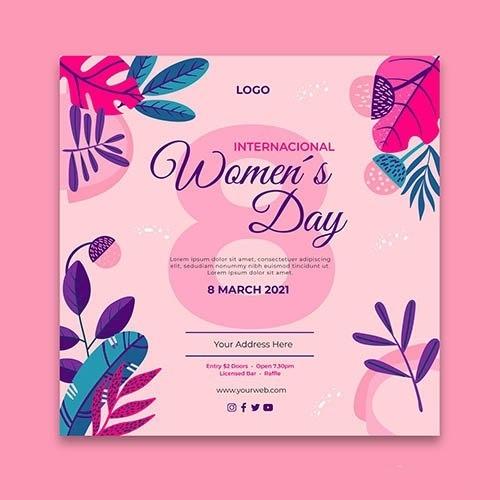 International women day flyer vector