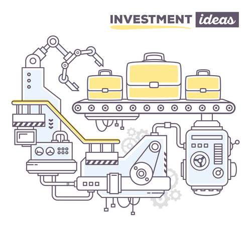 Investment ideas business concept vector