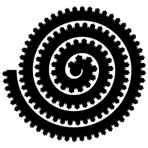 Isometric art rolled paper flower vector